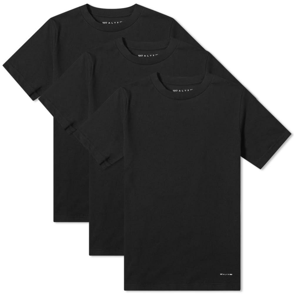 アリクス 1017 ALYX 9SM メンズ Tシャツ 3点セット トップス【Visual Tee - 3 Pack】Black