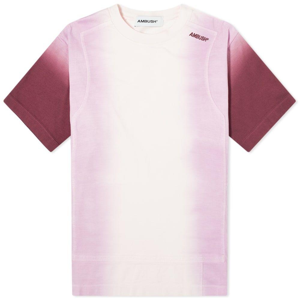 アンブッシュ Ambush メンズ Tシャツ トップス【Tie Dye Panel Tee】Light Pink/Multi