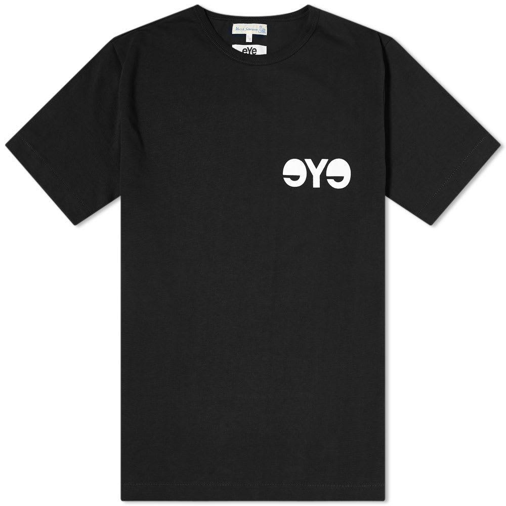 ジュンヤ ワタナベ Junya Watanabe MAN メンズ Tシャツ ロゴTシャツ トップス【x Merz b. Schwanen eYe Logo Tee】Black