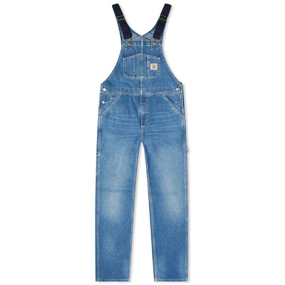カーハート Carhartt WIP メンズ オーバーオール ビブパンツ ボトムス・パンツ【Bib Overall】Blue Worn Wash