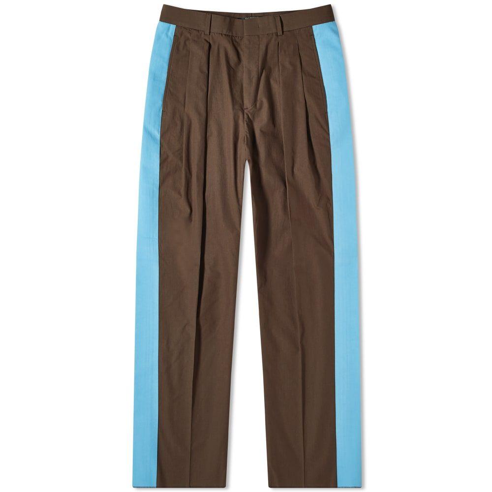 ヴァレンティノ Valentino メンズ ボトムス・パンツ 【Side Stripe Cotton Trouser】Brown/Blue