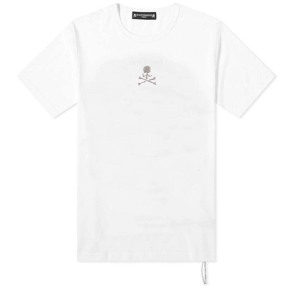 マスターマインド MASTERMIND WORLD メンズ Tシャツ トップス【Swarovski Skull Tee】White