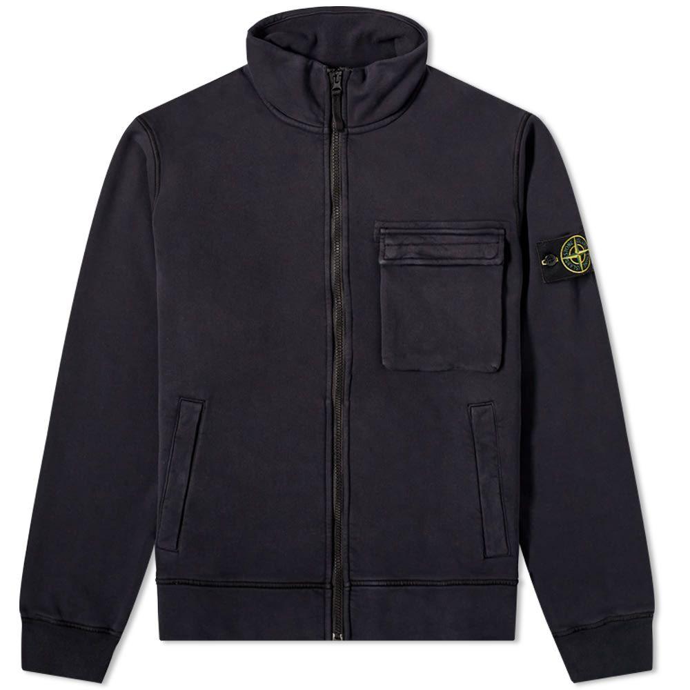 ストーンアイランド Stone Island メンズ ジャージ アウター【Garment Dyed Zip Track Jacket】Navy Blue