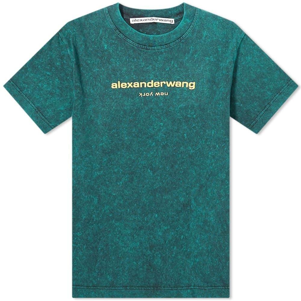 アレキサンダー ワン Alexander Wang メンズ Tシャツ ロゴTシャツ トップス【Acid Washed Logo Tee】Acid Jade