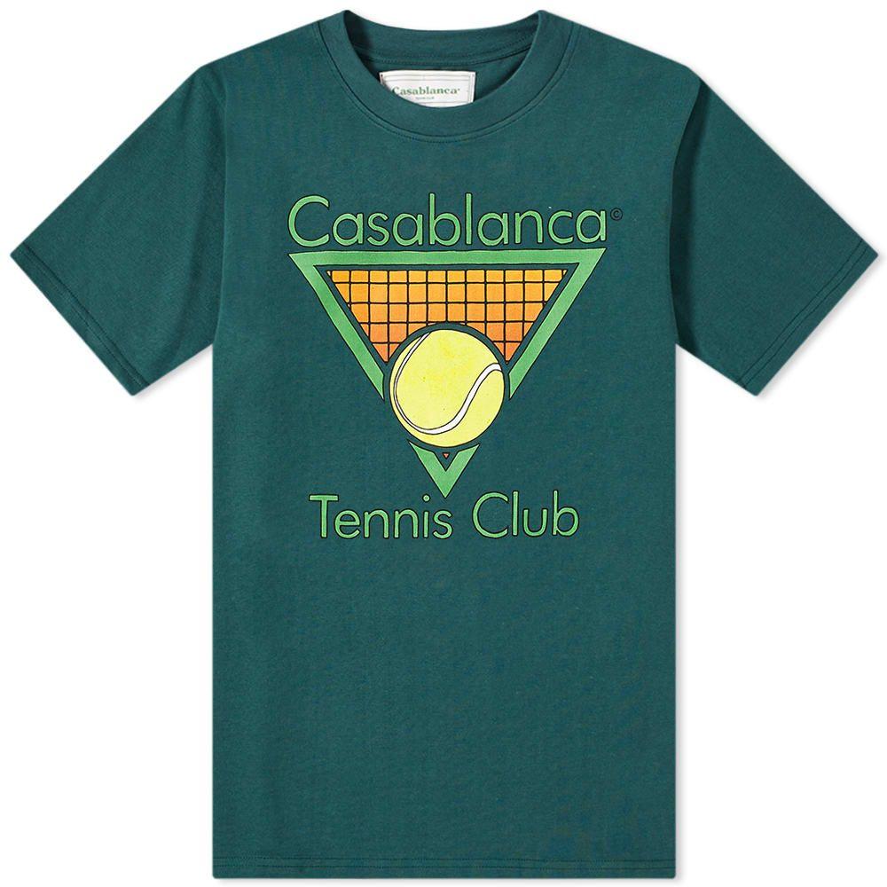 カサブランカ Casablanca メンズ Tシャツ トップス【Casa Tennis Club Tee】Dark Green