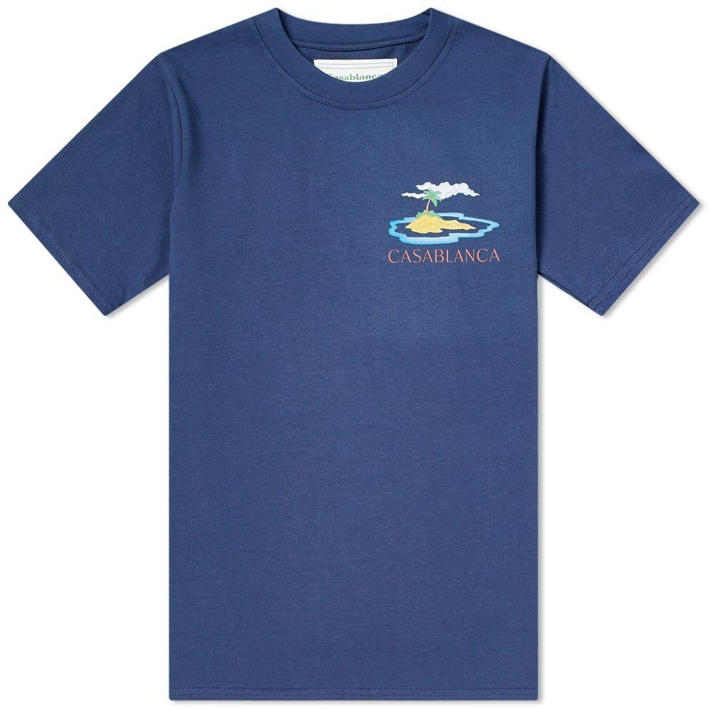 カサブランカ Casablanca メンズ Tシャツ トップス【Casa Dragon Tee】Navy