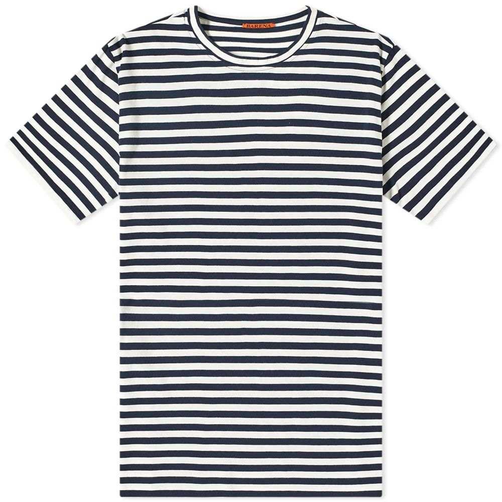 バレナ Barena メンズ Tシャツ トップス【Giro Striped Tee】White