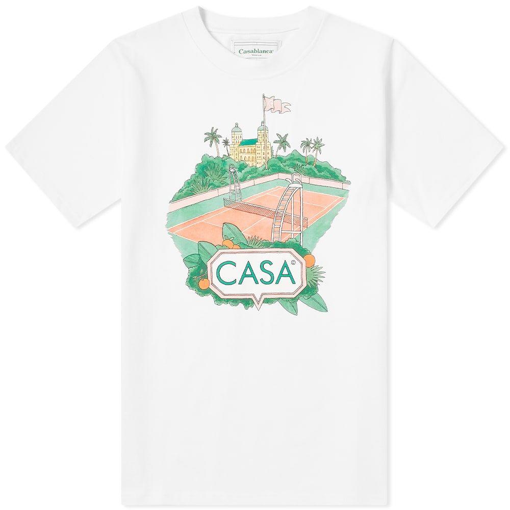 カサブランカ Casablanca メンズ Tシャツ トップス【Casa Court Tee】White