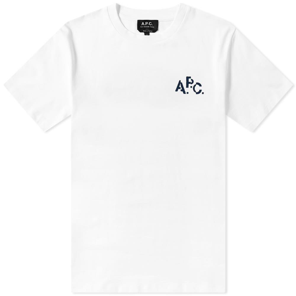 アーペーセー A.P.C. メンズ Tシャツ ロゴTシャツ トップス【Pixel Logo Tee】White