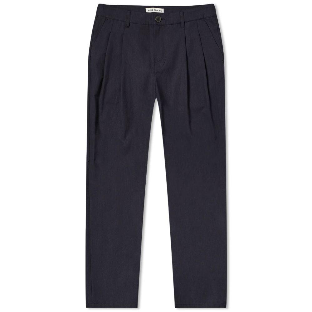 ア カインド オブ ガイズ A Kind of Guise メンズ ボトムス・パンツ 【Pleated Wide Trouser】Deep Navy