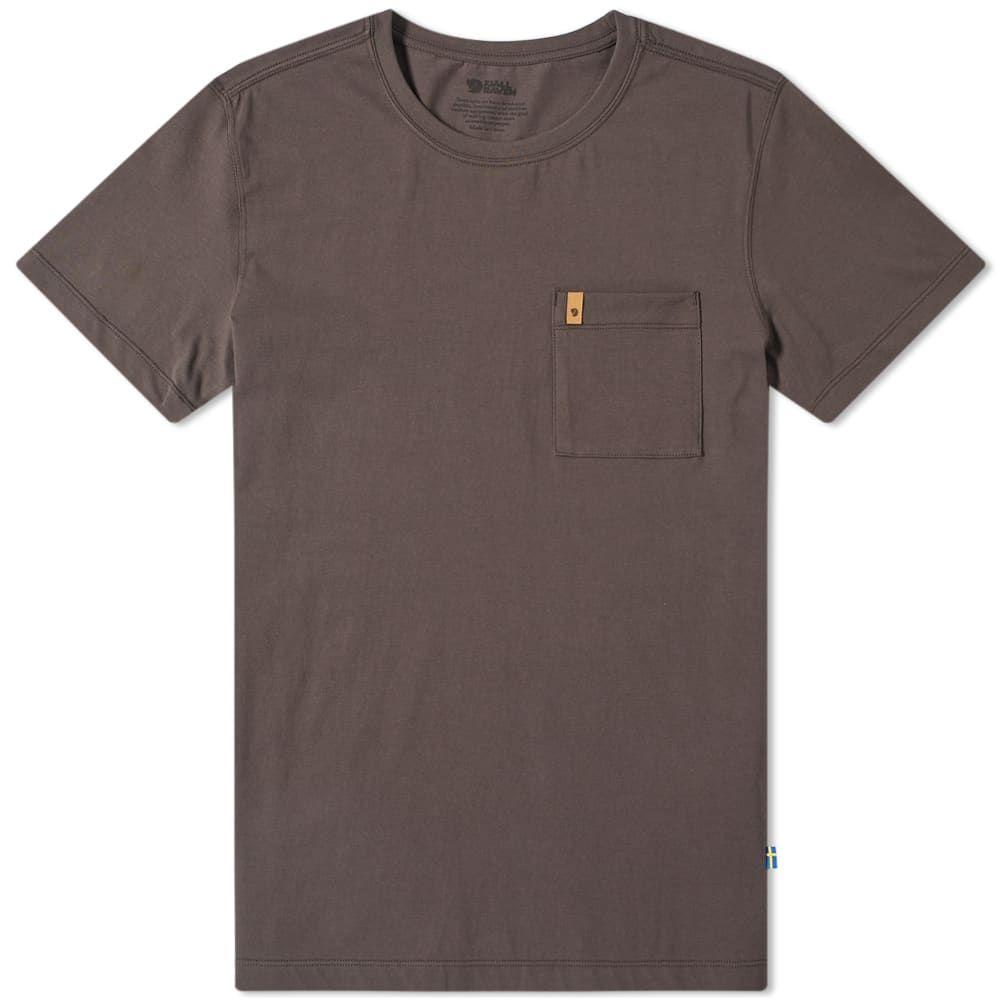 フェールラーベン Fjallraven メンズ Tシャツ ポケット トップス【Ovik Pocket Tee】Dark Grey
