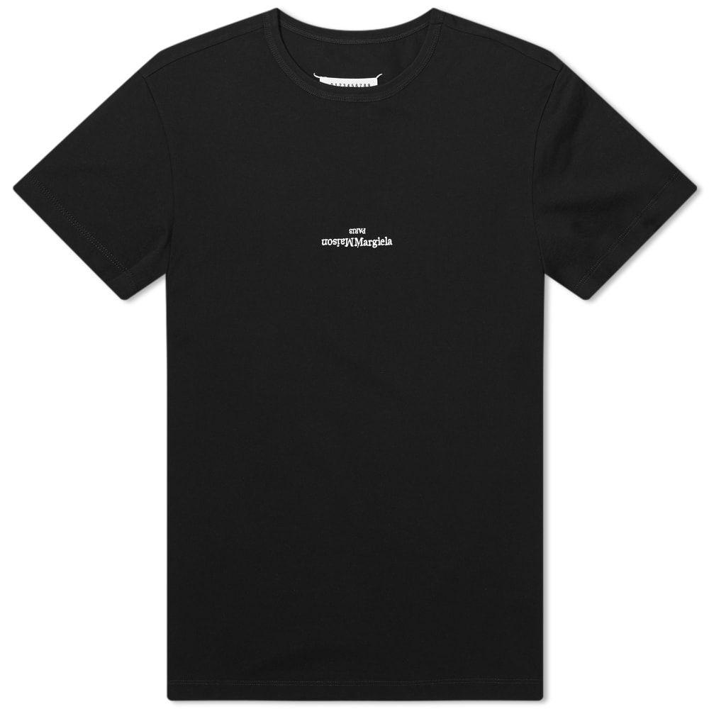 メゾン マルジェラ Maison Margiela メンズ Tシャツ ロゴTシャツ トップス【10 Embroidered Text Logo Tee】Black