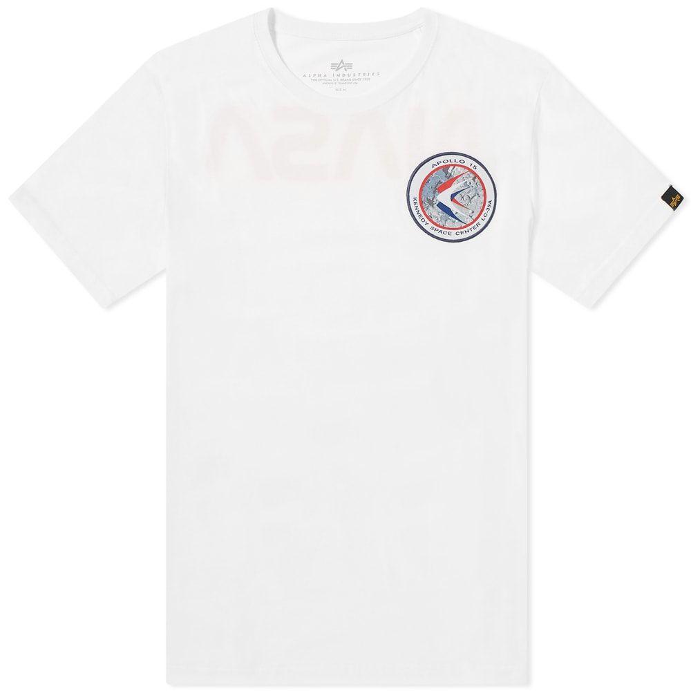 アルファ インダストリーズ Alpha Industries メンズ Tシャツ トップス【Apollo 15 Tee】White