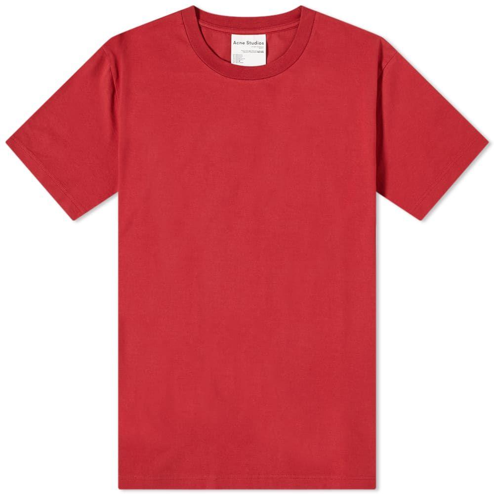 アクネ ストゥディオズ Acne Studios メンズ Tシャツ トップス【Everest Pink Label Tee】Burgundy