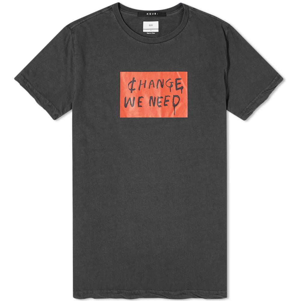 スビ Ksubi メンズ Tシャツ トップス【Change We Need Tee】Black