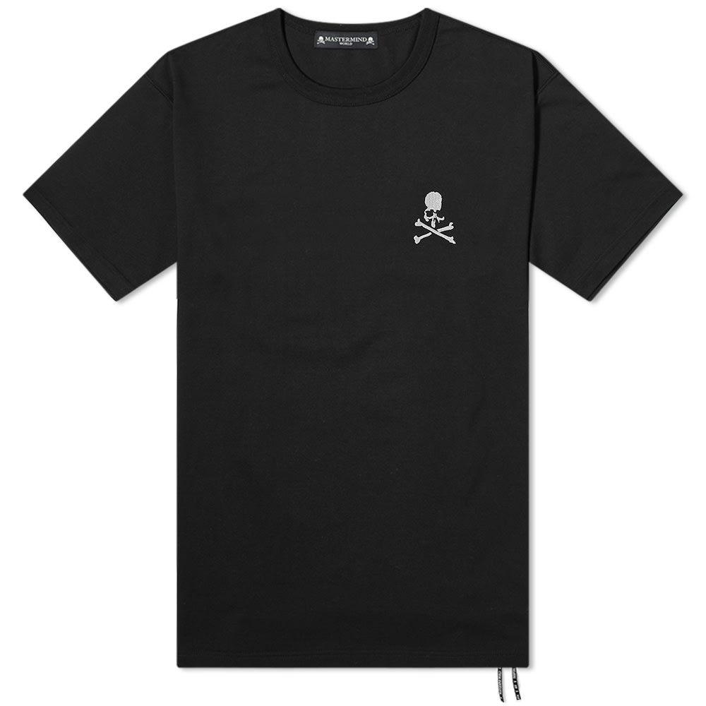 マスターマインド MASTERMIND WORLD メンズ Tシャツ ロゴTシャツ トップス【Chest Logo Tee】Black