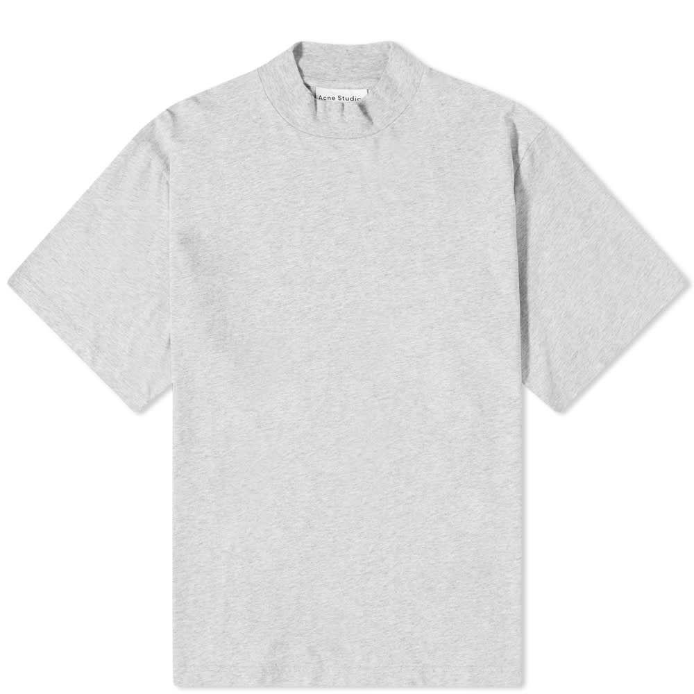 アクネ ストゥディオズ Acne Studios メンズ Tシャツ トップス【Esco Pink Label Mock Neck Tee】Pale Grey Melange