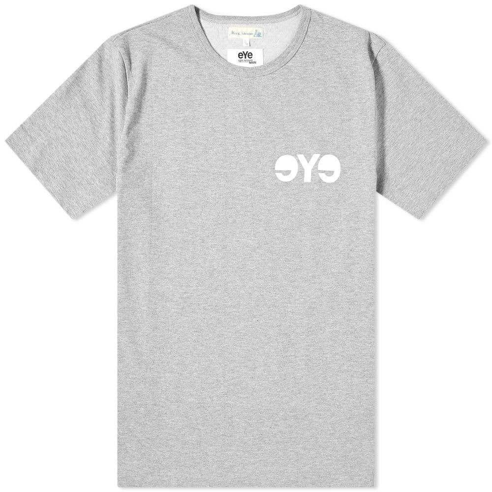 ジュンヤ ワタナベ Junya Watanabe MAN メンズ Tシャツ ロゴTシャツ トップス【x Merz b. Schwanen eYe Logo Tee】Grey