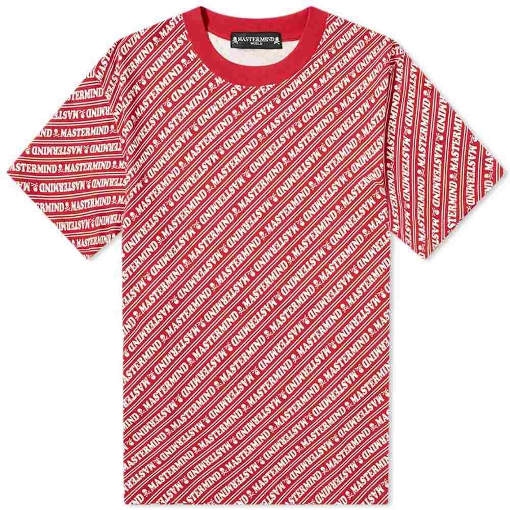 マスターマインド MASTERMIND WORLD メンズ Tシャツ トップス【All Over Print Tee】Red Base