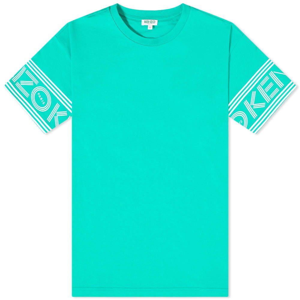 ケンゾー Kenzo メンズ Tシャツ トップス【Paris Cuff Print Tee】Mint