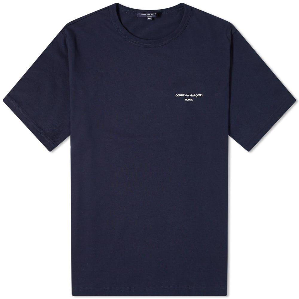 コム デ ギャルソン Comme des Garcons Homme メンズ Tシャツ ロゴTシャツ トップス【Logo Tee】Navy