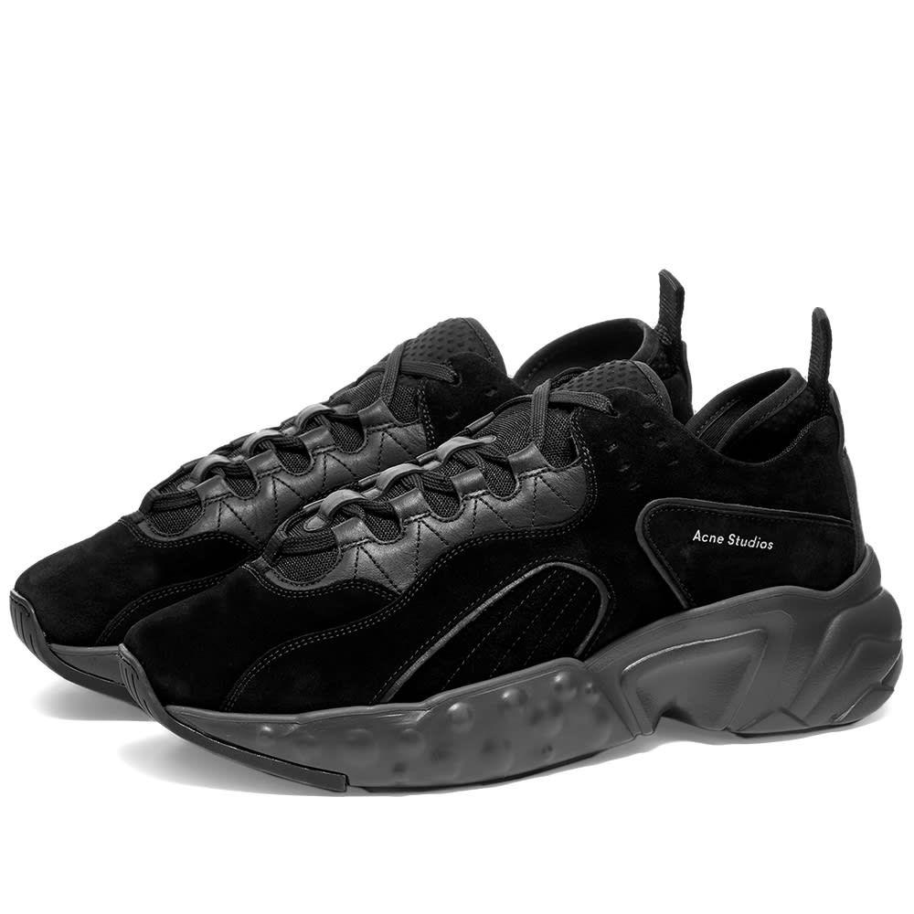 アクネ ストゥディオズ Acne Studios メンズ スニーカー シューズ・靴【Rockaway Suede Oversize Sneaker】Black