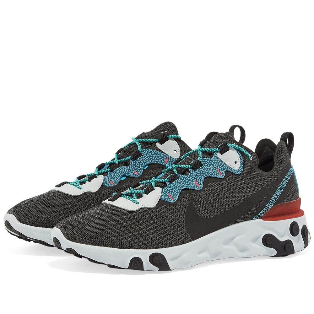 ナイキ Nike メンズ スニーカー シューズ・靴【React Element 55 SE】Anthracite/Blue/Red/Jade