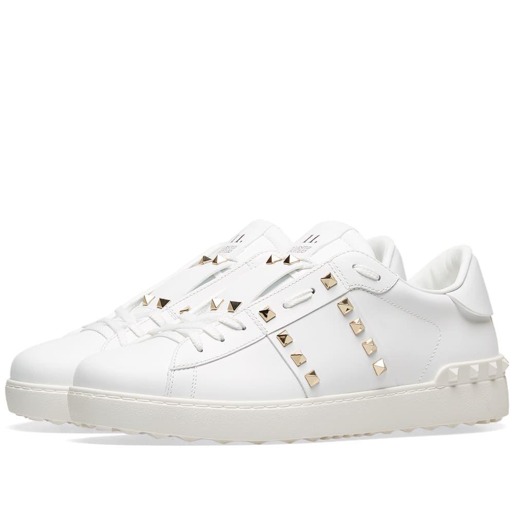 ヴァレンティノ Valentino メンズ スニーカー シューズ・靴【Rockstud Untitled Sneaker】White/Gold