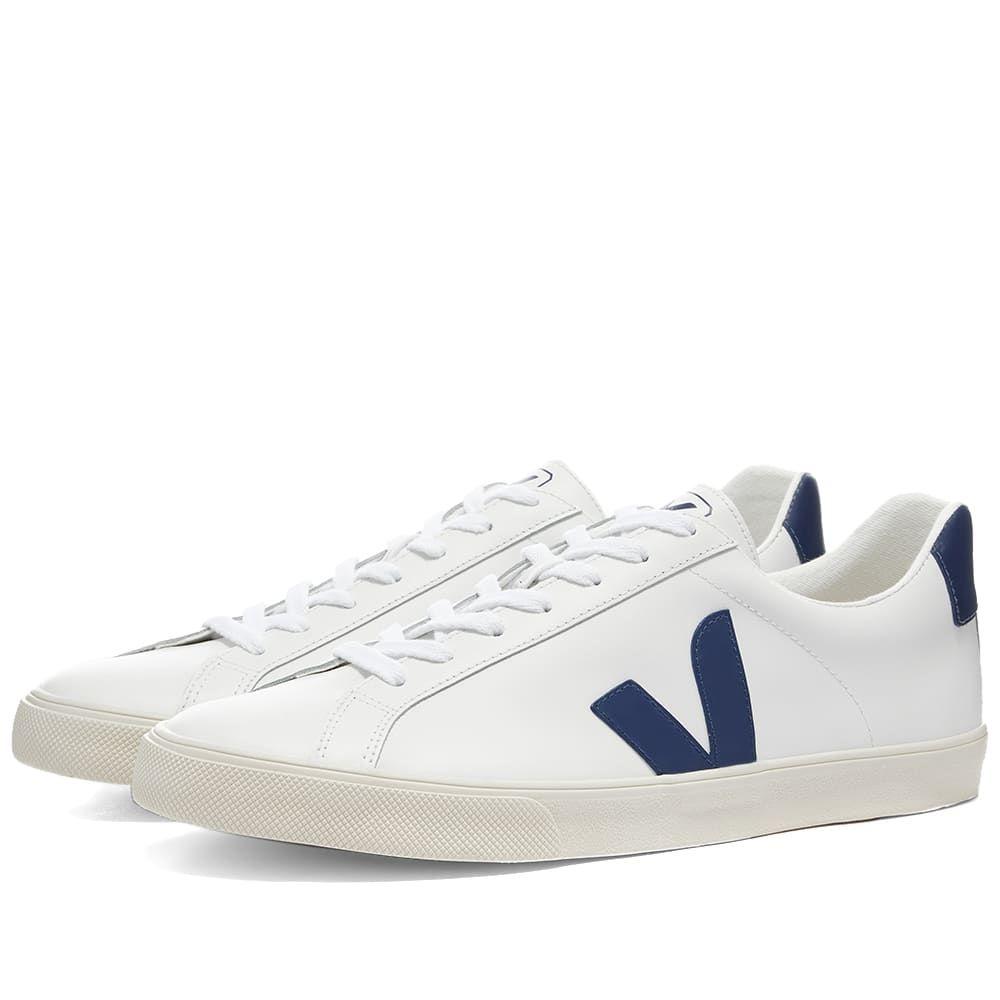 ヴェジャ Veja メンズ スニーカー シューズ・靴【Esplar Clean Leather Sneaker】White/Cobalt