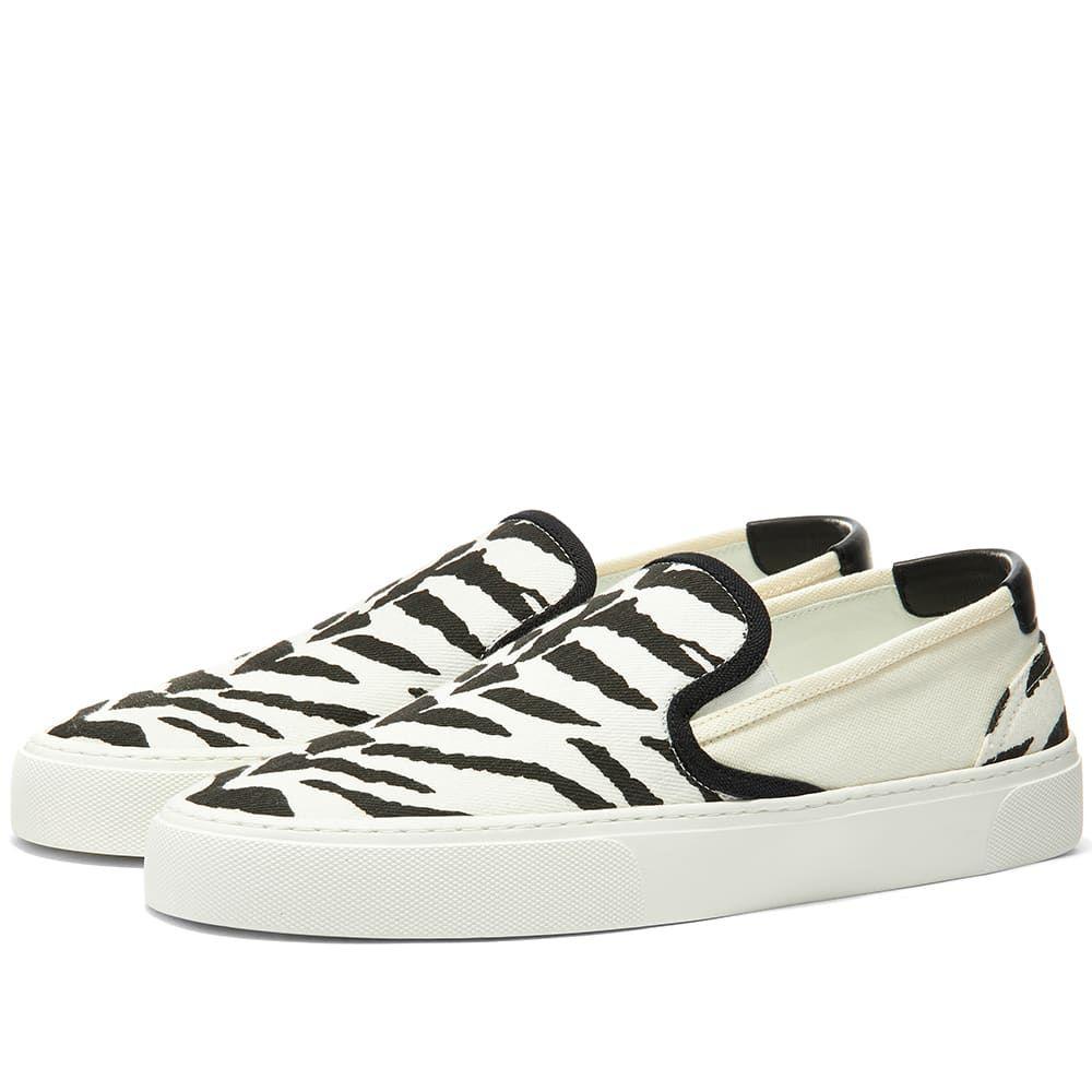 イヴ サンローラン Saint Laurent メンズ スリッポン・フラット スニーカー シューズ・靴【Venice Slip-On Sneaker】Zebra