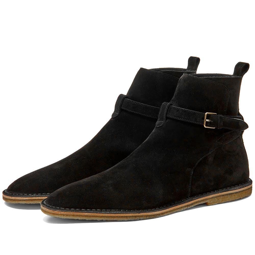 イヴ サンローラン Saint Laurent メンズ ブーツ シューズ・靴【Nino 10mm Suede Jodhpur Boot】Black