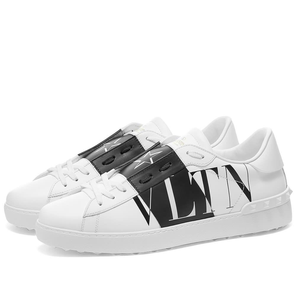 ヴァレンティノ Valentino メンズ スニーカー ローカット シューズ・靴【VLTN Star Open Low Top Sneaker】White/Black