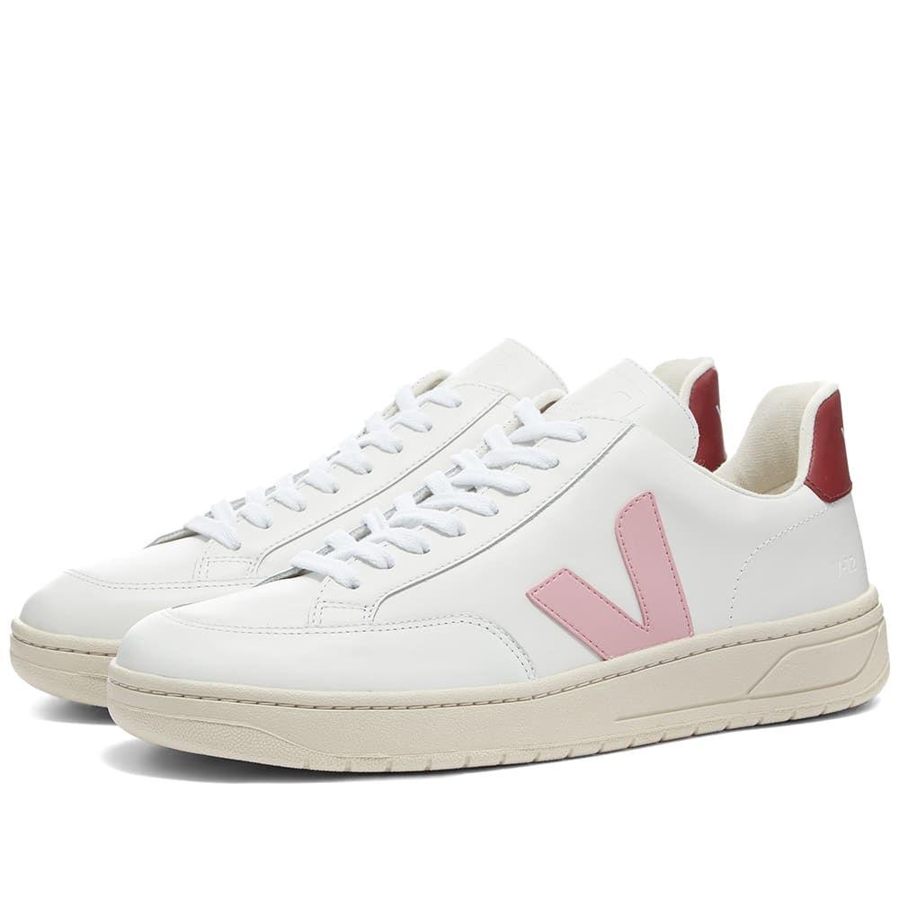 ヴェジャ Veja メンズ スニーカー シューズ・靴【V-12 Leather Sneaker】White/Pink