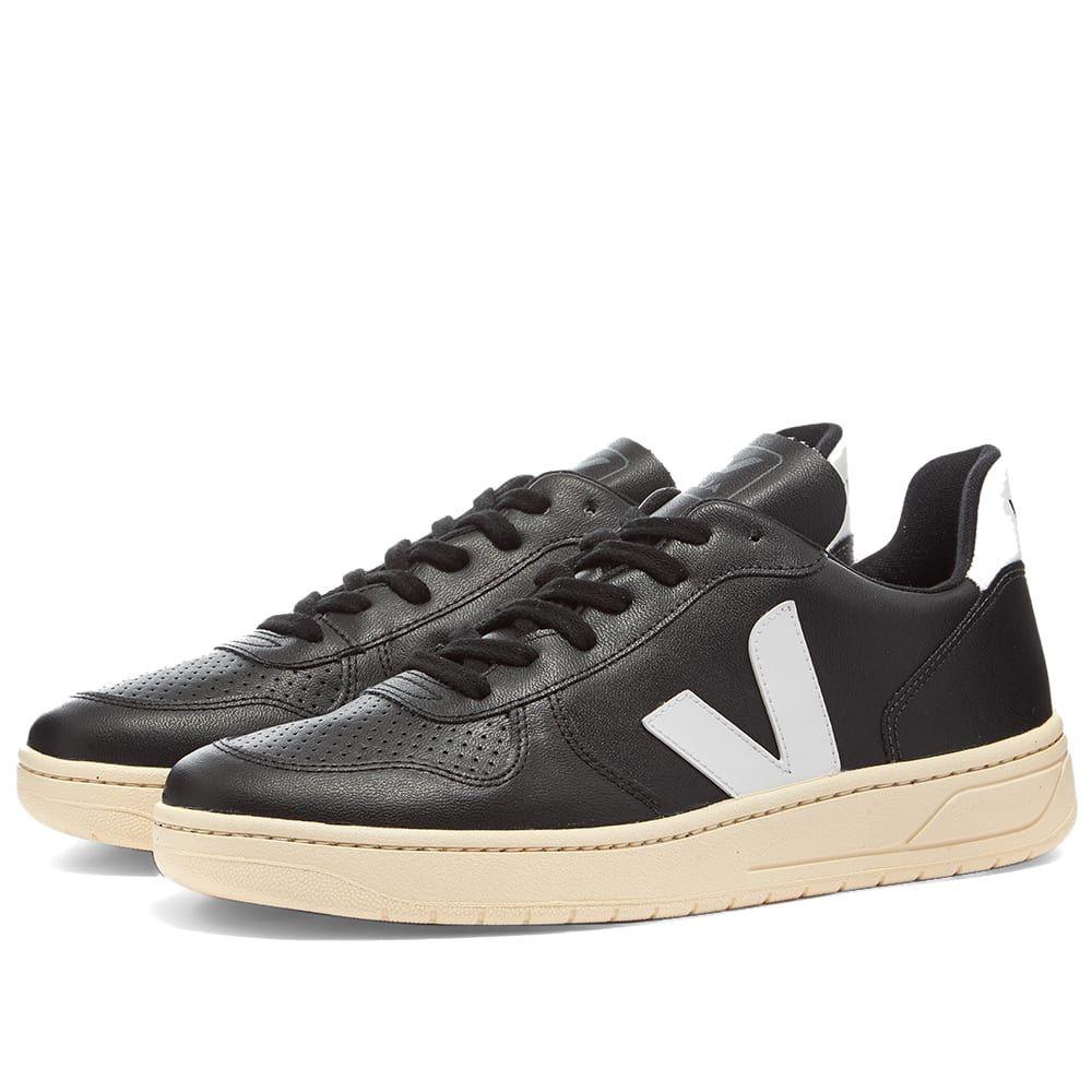 ヴェジャ Veja メンズ スニーカー シューズ・靴【V-10 Vegan Sneaker】Black/White