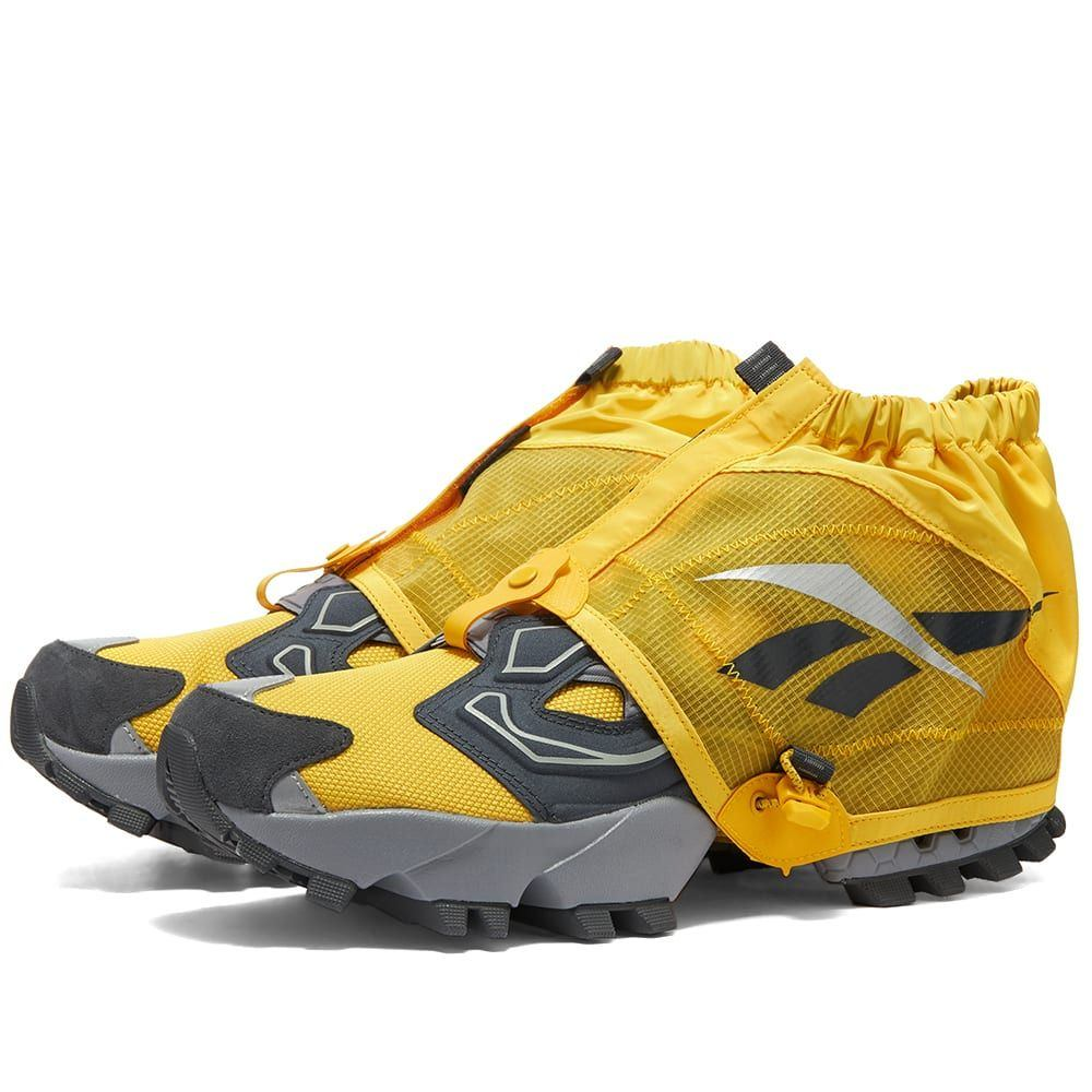 リーボック Reebok メンズ スニーカー シューズ・靴【Instapump Fury Trail Shroud】Toxic Yellow/Cold Grey
