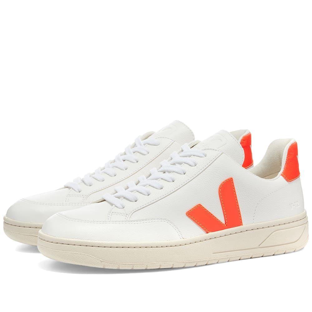 ヴェジャ Veja メンズ スニーカー シューズ・靴【V-12 Sneaker】White/Fluro Orange