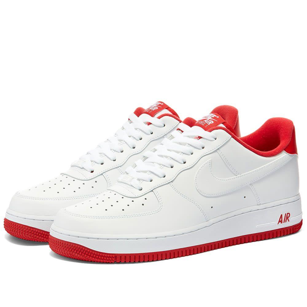 ナイキ Nike メンズ スニーカー エアフォースワン シューズ・靴【Air Force 1 07 Varsity】White/Red