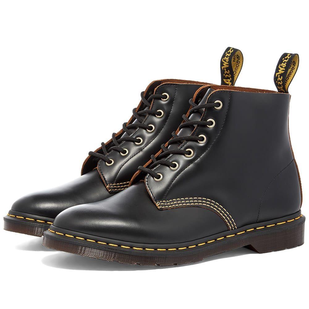 ドクターマーチン Dr Martens メンズ ブーツ シューズ・靴【Dr. Martens 101 Archive 6-Eye Boot】Black Vintage Smooth