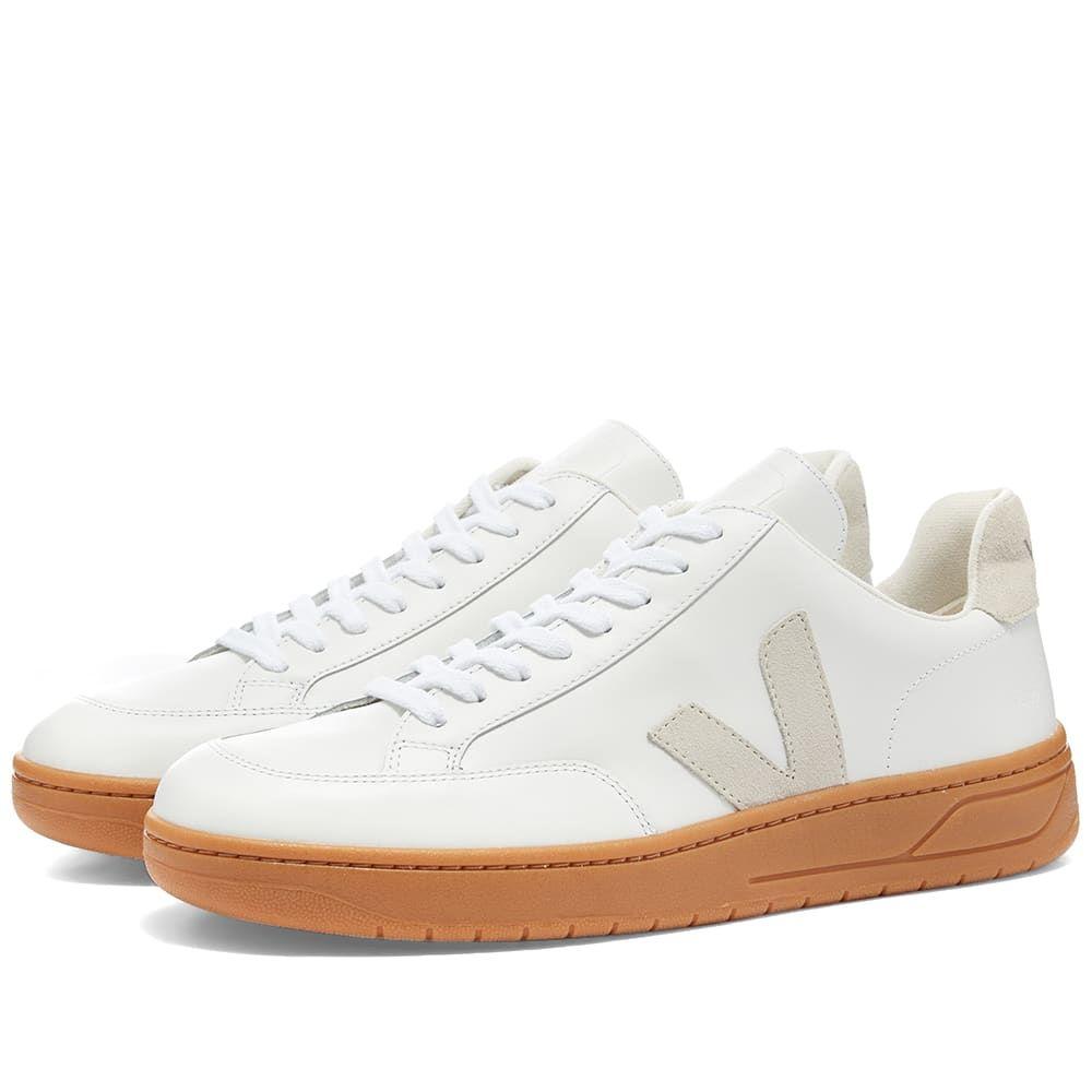 ヴェジャ Veja メンズ スニーカー シューズ・靴【V-12 Leather Sneaker】White/Gum