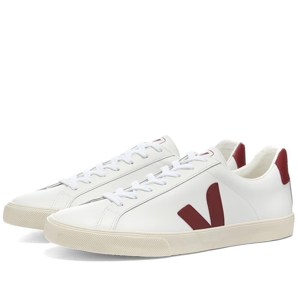 ヴェジャ Veja メンズ スニーカー シューズ・靴【Esplar Clean Leather Sneaker】White/Marsala