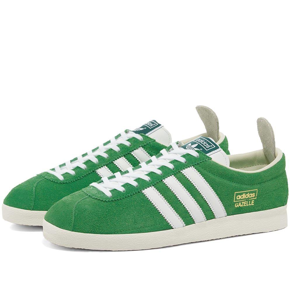 アディダス Adidas メンズ スニーカー シューズ・靴【Gazelle Vintage】Green/White