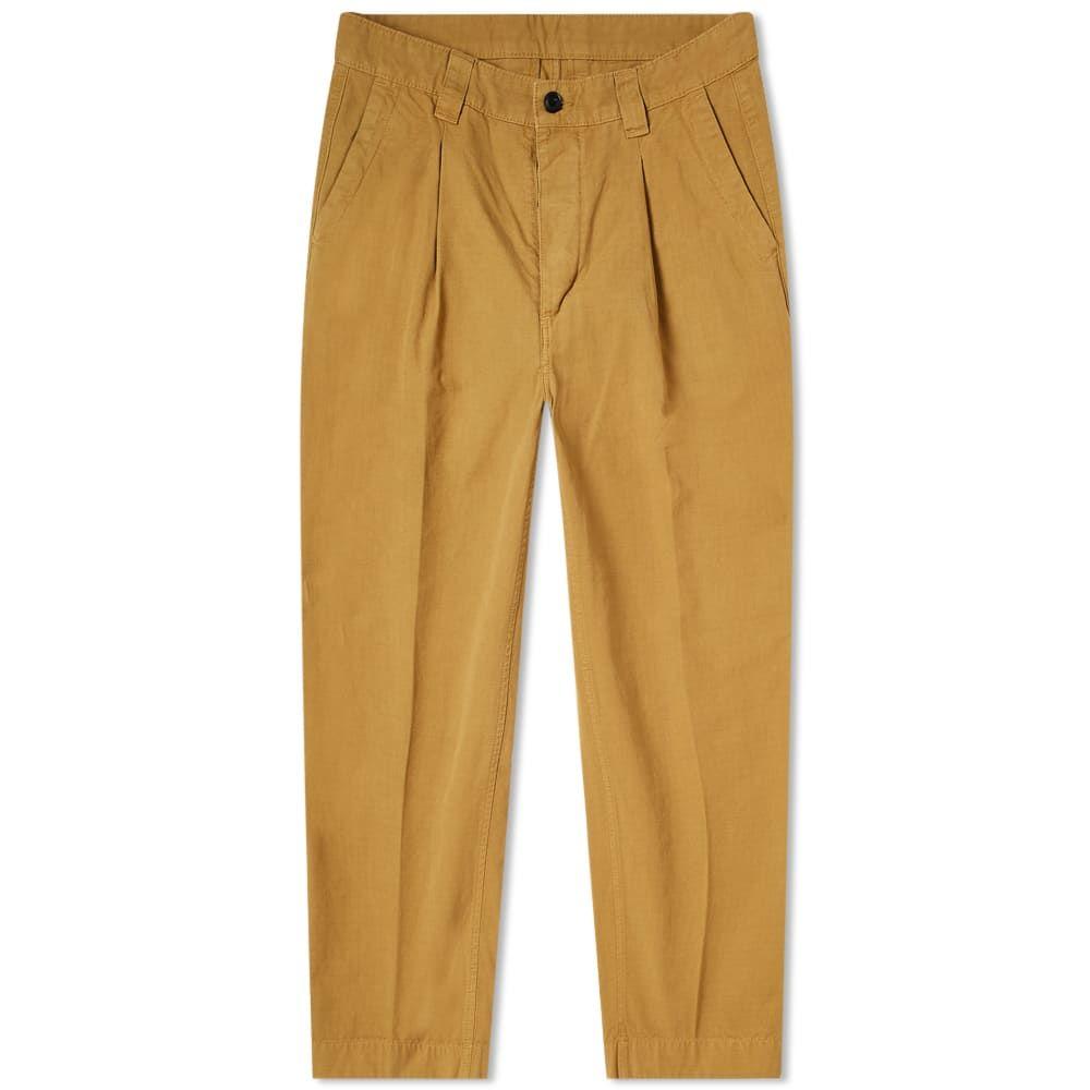 アルバム Albam メンズ ボトムス・パンツ 【Garment Dyed Ripstop Pleated Trouser】Tobacco