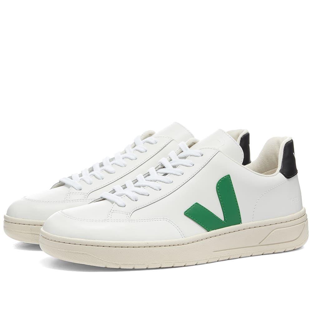 ヴェジャ Veja メンズ スニーカー シューズ・靴【V-12 Leather Sneaker】White/Green