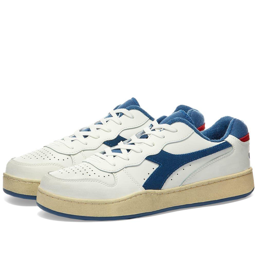ディアドラ Diadora メンズ スニーカー シューズ・靴【Mi Basket Low Used】White/Bijou Blue