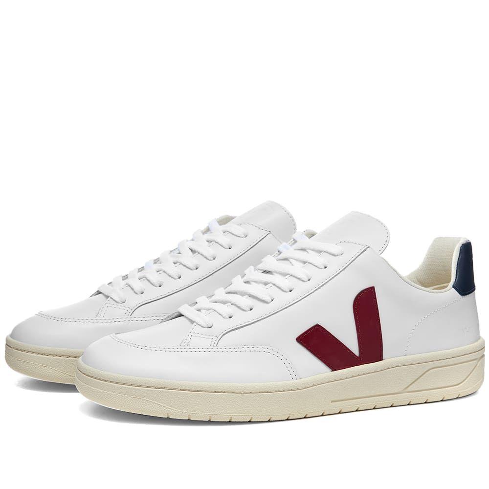 ヴェジャ Veja メンズ スニーカー シューズ・靴【V-12 Leather Sneaker】White/Burgundy/Navy