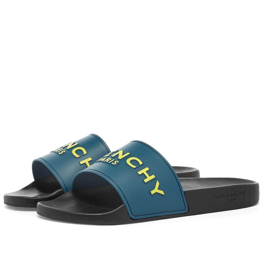 ジバンシー Givenchy メンズ サンダル スライドサンダル シューズ・靴【Logo Slide Sandal】Oil Blue