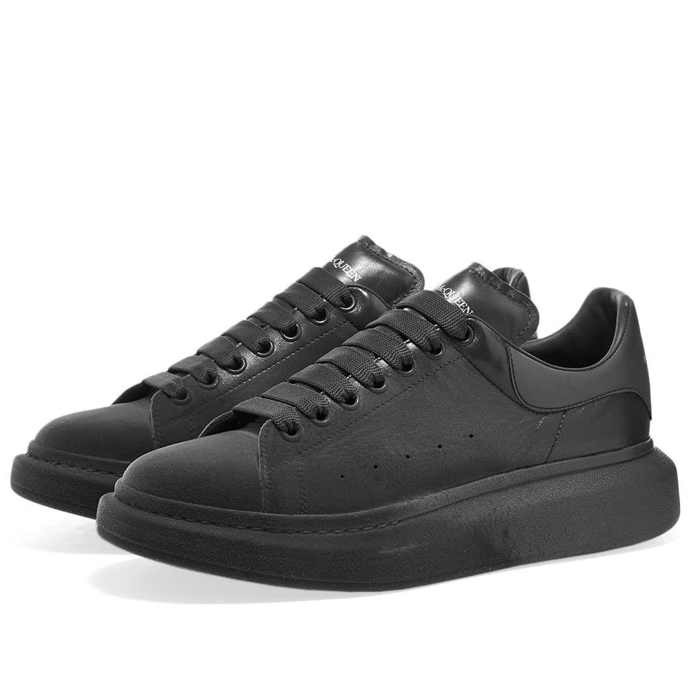 アレキサンダー マックイーン Alexander McQueen メンズ スニーカー ウェッジソール シューズ・靴【Flock Toe Tonal Wedge Sole Sneaker】Charcoal