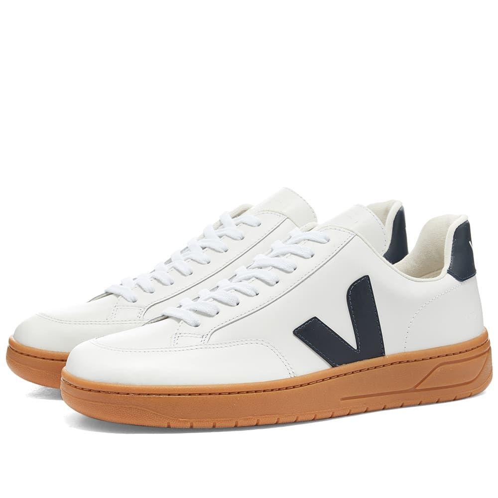 ヴェジャ Veja メンズ スニーカー シューズ・靴【V-12 Leather Sneaker】White/Gum/Navy