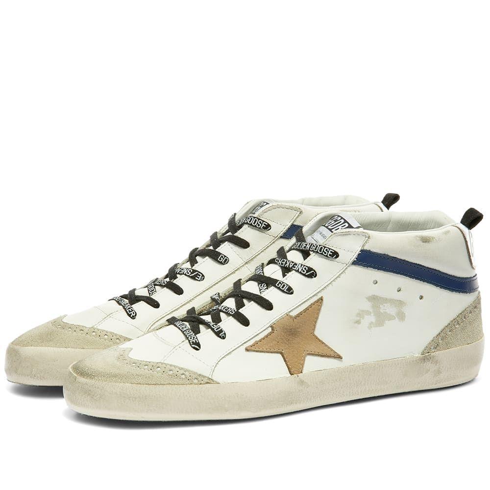 ゴールデン グース Golden Goose メンズ スニーカー シューズ・靴【Mid Star Leather Sneaker】White