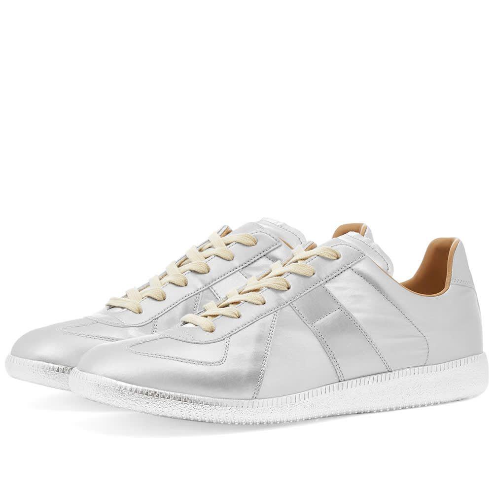 メゾン マルジェラ Maison Margiela メンズ スニーカー ローカット シューズ・靴【22 Metallic Replica Low Sneaker】Silver